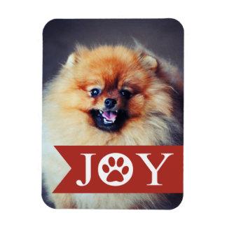 喜びの赤い旗ペット写真の休日の磁石 マグネット
