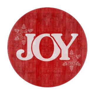 喜びの雪片パターンエレガントで赤いクリスマス カッティングボード