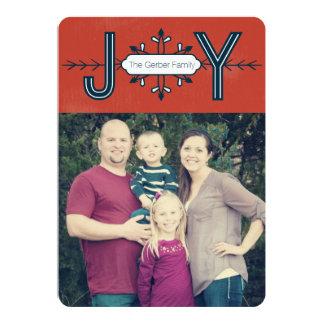 喜びの雪片-写真のクリスマスカード カード
