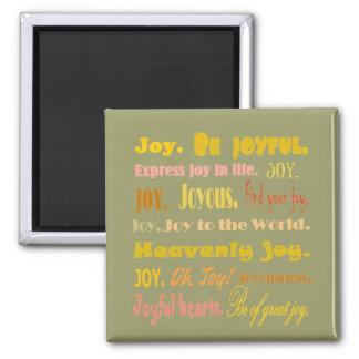 喜びの高揚の思考の磁石の単語 マグネット