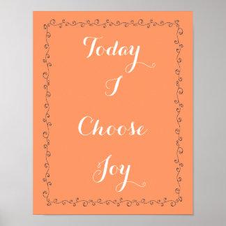喜びを選んで下さい ポスター