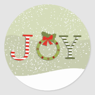 喜びクリスマス ラウンドシール