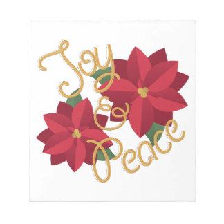 喜び及び平和 ノートパッド