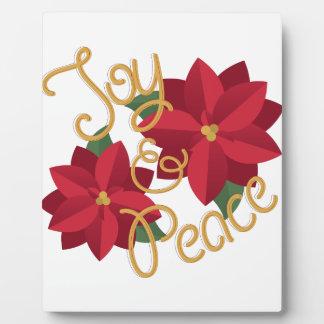 喜び及び平和 フォトプラーク