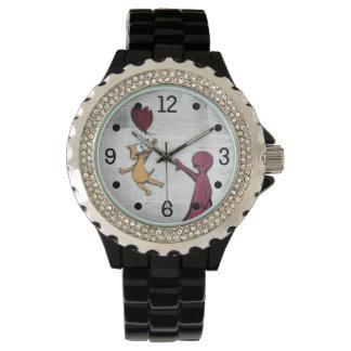 喜び猫の気球の腕時計が常にあります 腕時計
