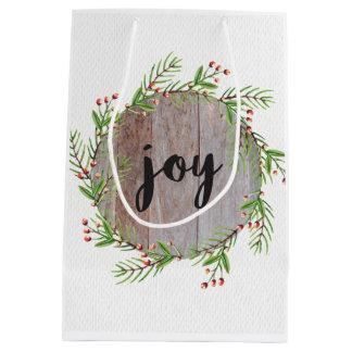 喜び-クリスマスのギフトバッグ ミディアムペーパーバッグ