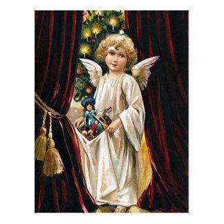 喜び-クリスマスの挨拶の郵便はがきの十分の腕 ポストカード