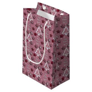 喜び、平和、愛! ピンク スモールペーパーバッグ