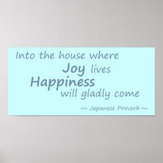 喜び、幸福のLtの青 ポスター