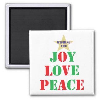 喜び、愛、平和 マグネット