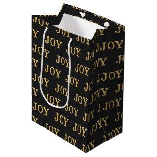 喜び(金ゴールド) ミディアムペーパーバッグ