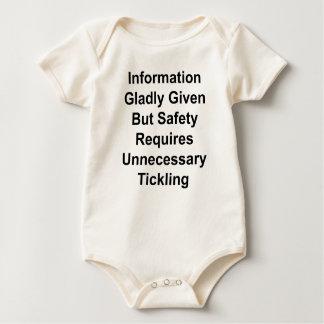 喜んで与えられる情報しかし安全は…要求します ベビーボディスーツ