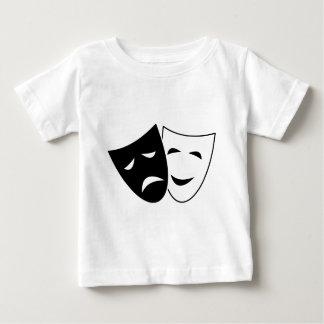 喜劇および悲劇のマスク ベビーTシャツ