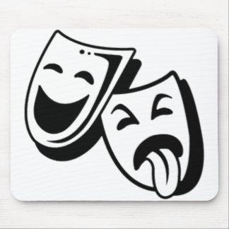 喜劇および悲劇のマスク マウスパッド