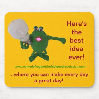喜劇のカエルで最も最高のなアイディア! マウスパッド