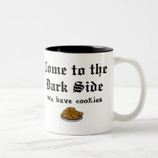 喜劇のマグは暗黒面に、来ます ツートーンマグカップ