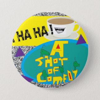 喜劇ボタンの打撃 7.6CM 丸型バッジ