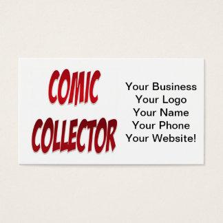 喜劇的なコレクターの赤 名刺