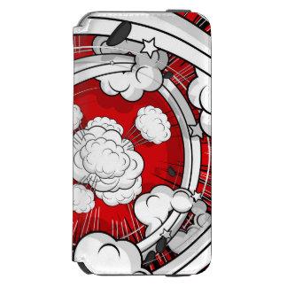 喜劇的なスタイルの赤い戦いの雲 INCIPIO WATSON™ iPhone 5 財布型ケース