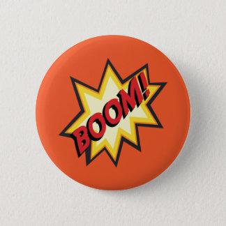 """喜劇的な文字""""ブーム""""ボタンのバッジ 5.7CM 丸型バッジ"""