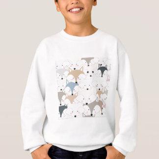 喜劇的な漫画のかわいい孤またはオオカミパターン スウェットシャツ
