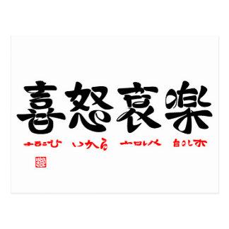 喜怒哀楽(ことば漢字) ポストカード