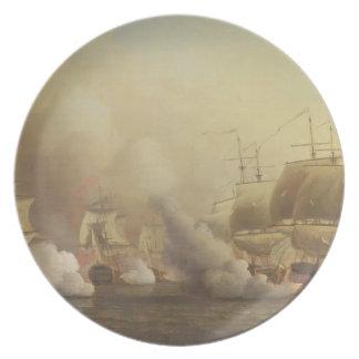 喜望峰を離れた行為、1757年3月9日 プレート