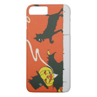 喫煙のかかしのジャックOのランタンの黒猫 iPhone 8 PLUS/7 PLUSケース
