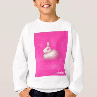 喫煙のウサギ スウェットシャツ