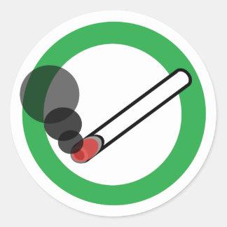 喫煙の印 ラウンドシール