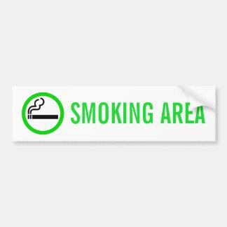 喫煙場所 バンパーステッカー