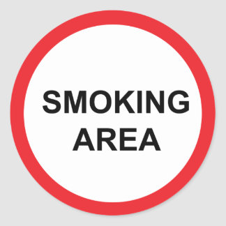 喫煙場所 ラウンドシール