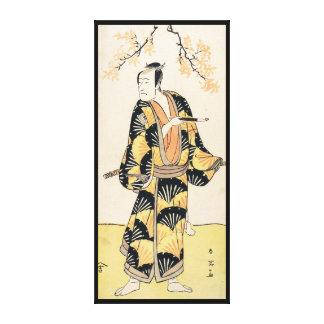 喫煙管を握る市川町Komazo俳優 キャンバスプリント