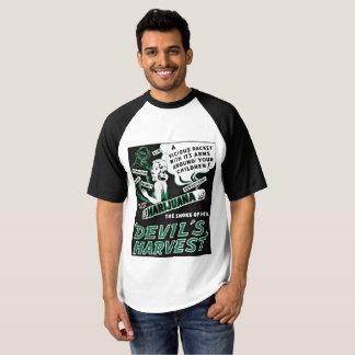 喫煙者のCannibisのTシャツの悪魔の収穫 Tシャツ