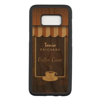 喫茶店のコーヒー恋人の木のSamsung S8カバー Carved Samsung Galaxy S8 ケース