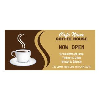 喫茶店メニューブラウンおよびベージュカフェの棚カード ラックカードデザイン