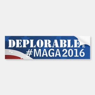 嘆かわしい私は#MAGA/アメリカを素晴らしく再度させます バンパーステッカー