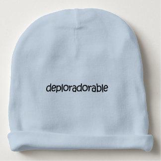 嘆かわしい + 愛らしいか。 Deploradorable! ニットの帽子 ベビービーニー
