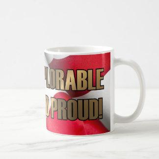 嘆かわしくおよび誇りを持った コーヒーマグカップ