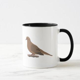 嘆くこと、愛またはカメの鳩のデジタルによって描かれる鳥 マグカップ