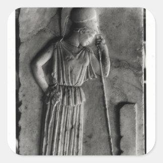 嘆くアテーナーのレリーフ、浮き彫り、c.460 スクエアシール