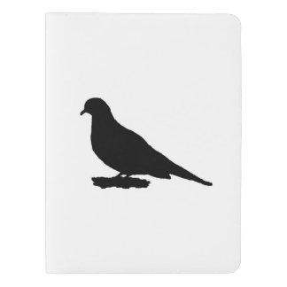 嘆く鳩のシルエット愛野鳥観察 エクストララージMoleskineノートブック