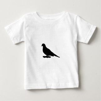 嘆く鳩のシルエット愛野鳥観察 ベビーTシャツ