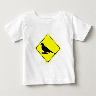 嘆く鳩の警告標識愛野鳥観察 ベビーTシャツ