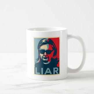 嘘つきのアンチヒラリークリントンのマグ コーヒーマグカップ