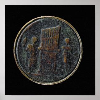 器官を描写するローマの硬貨 ポスター