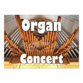 器官コンサートへの招待状- Ulmは配管します カード