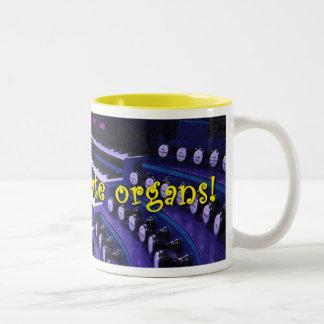 器官-紫色のマグ--を祝おう ツートーンマグカップ
