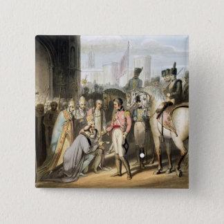 「噴出の公爵の勝利からのマドリード、 5.1CM 正方形バッジ