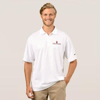 噴水のナイキDre適合(白い) ポロシャツ